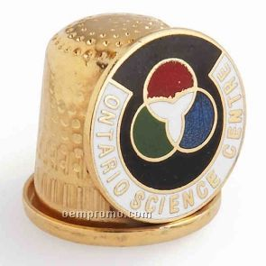 Thimble W/Custom Choice Of Cloisonne Crest