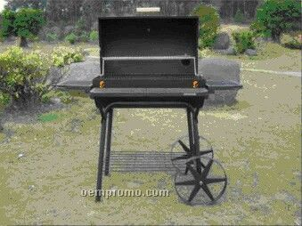 Barbecue Grill - Rack On Front And Both Sides & Star-spoke Wheels
