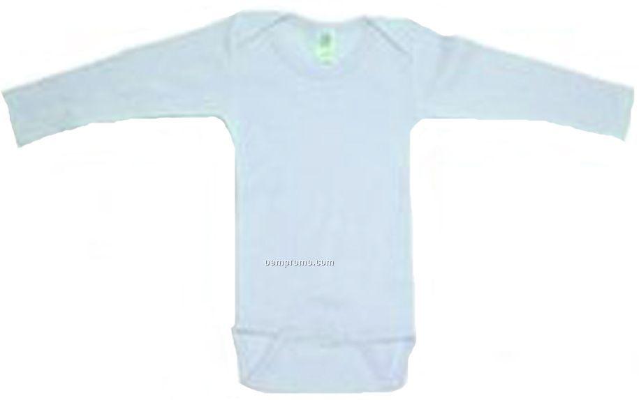 Blue Rib Knit Long Sleeve Onezie