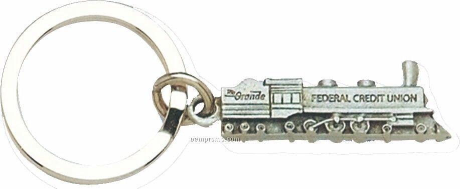 Cast Vehicle Key Tag - Old Train Locomotive
