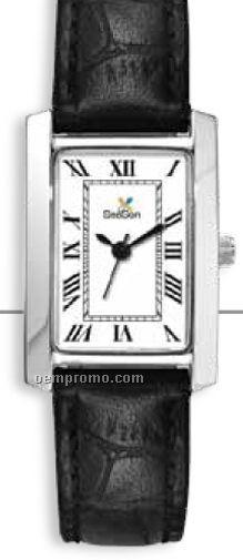 Ladies' Classic Casual Watch W/ Rectangular Metal Case