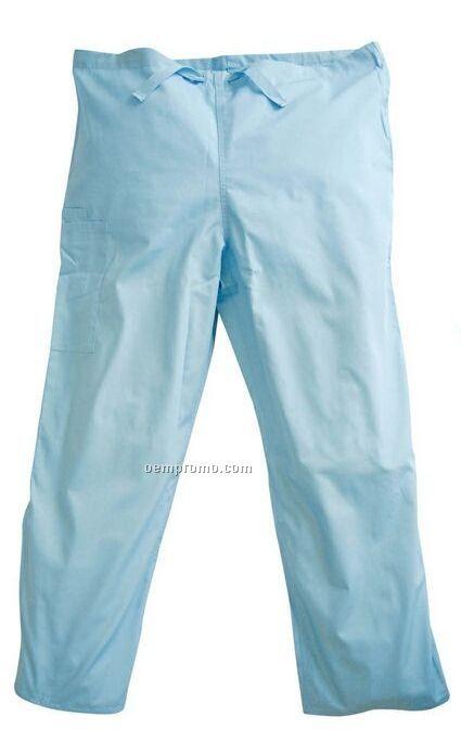 Unisex Poly Cotton Scrubs Pants W/ Drawstring Waist