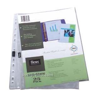 25 Pack Non Glare Top Load Sheet Protectors