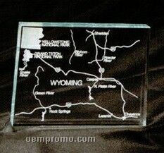 Acrylic Paperweight Up To 16 Square Inches / Wyoming