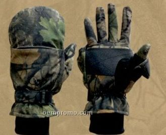 Northland Fleece Insulated Gloves/Mittens - Wood'n Trail Camo (M-xl)