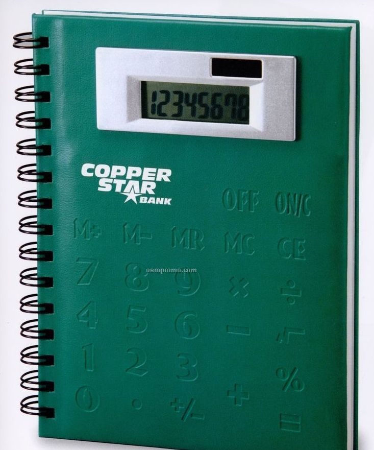 Spiral Notebook With Jumbo Display Calculator On Cover