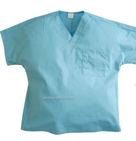 Unisex Poly Cotton V-neck Scrubs Shirt