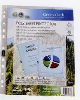 25 Pack Poly Sheet Protector