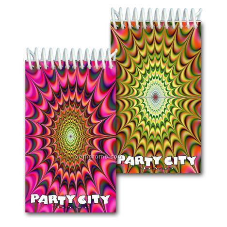 3d Lenticular Mini Notebook Stock/Hypnotic Kaleidoscope (Custom)