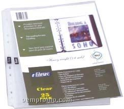 25 Pack Side Load Clear Sheet Protectors