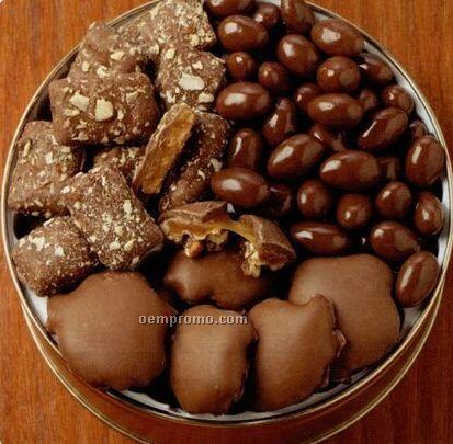 30 Oz. 3-way Chocolate Designer Gift Tin