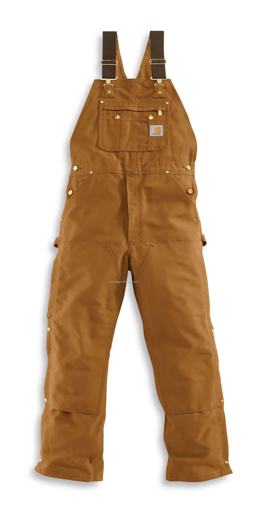 Carhartt Men's Duck Zip-to-thigh Bib Overall/ Unlined