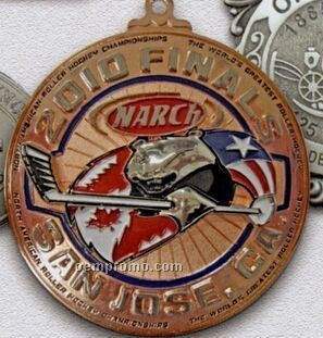 "Die Cast Zinc Single Faced Medals And Emblems (3"")"