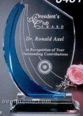 """Indigo Gallery Crystal Blue Shadow Award (12"""")"""