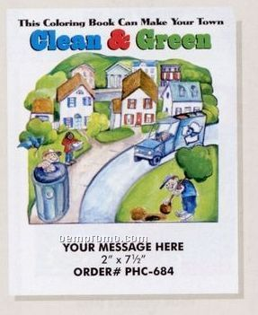 Stock Environmental Theme - Clean & Green Coloring Book