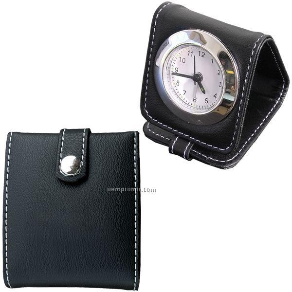 """Travel Alarm Clock (2.75""""X3""""X3"""") (Blank)"""