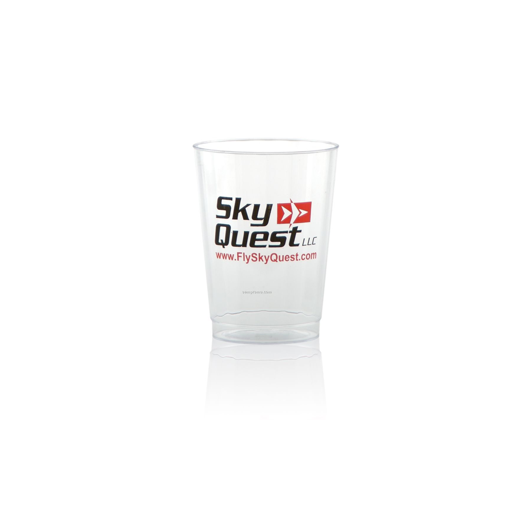 10 Oz. Clear Fluted Plastic Cup