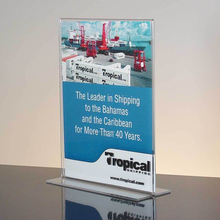 Bottom Loading Clear Acrylic Sign Holder
