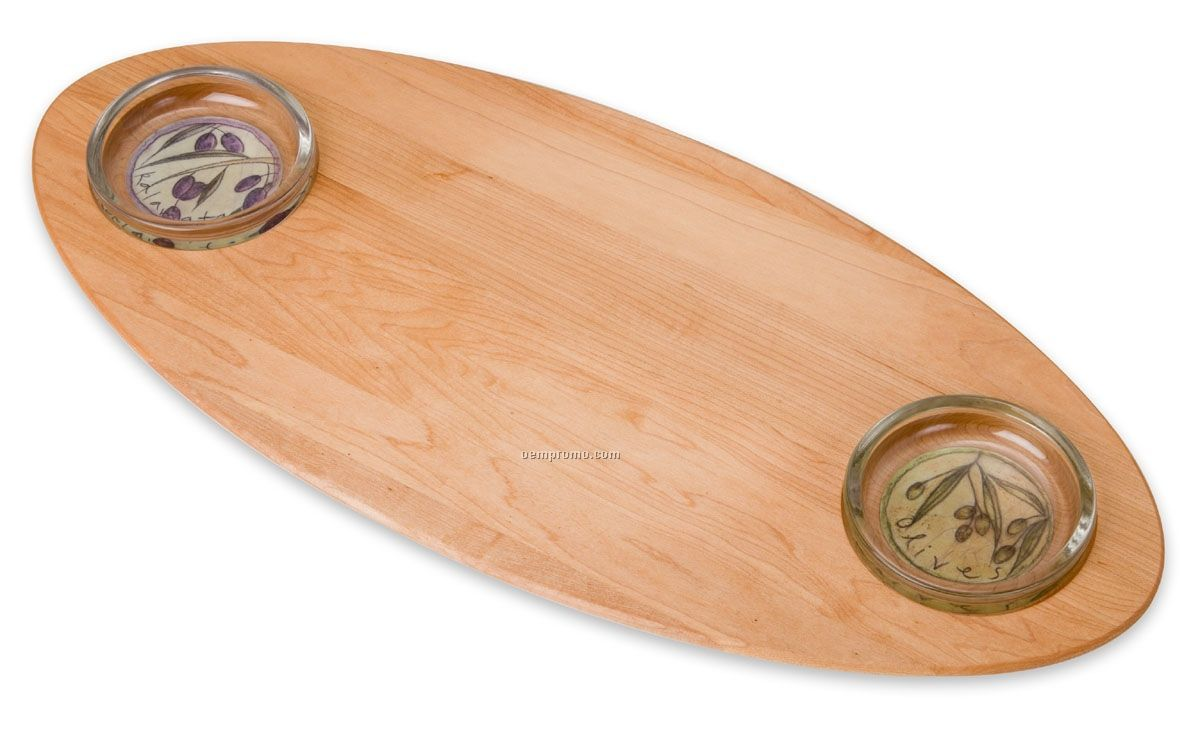 Bread & Oil Board Boards - Double Dish Board
