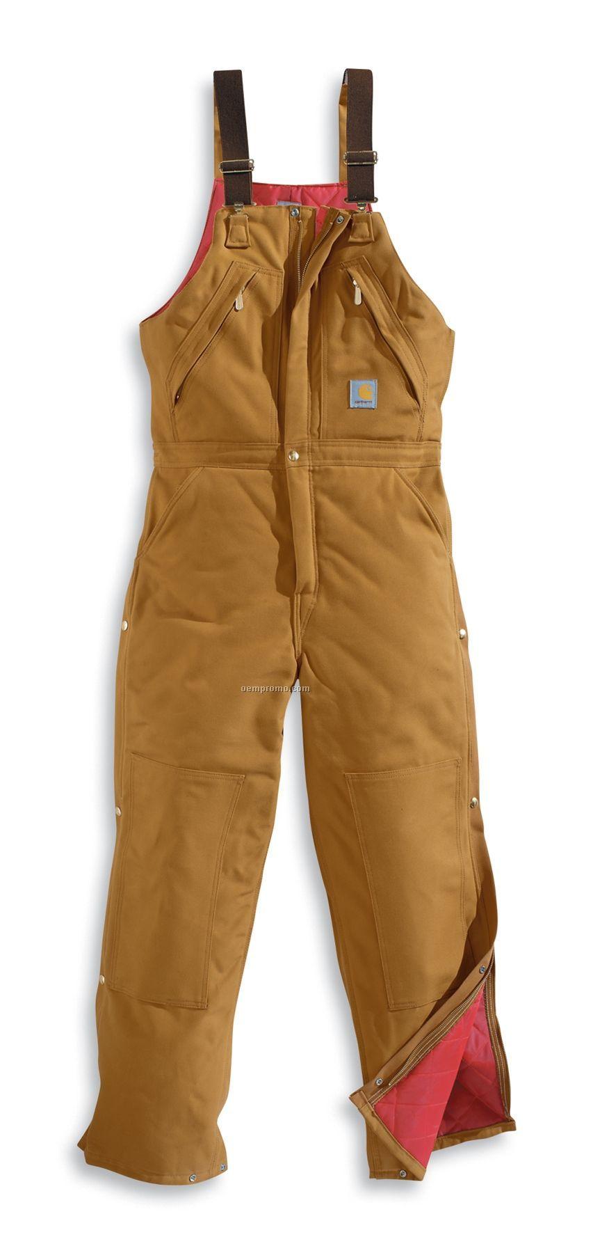 Carhartt Men's Zip-to-waist Biberall Overall/ Polyester Quilt Lined