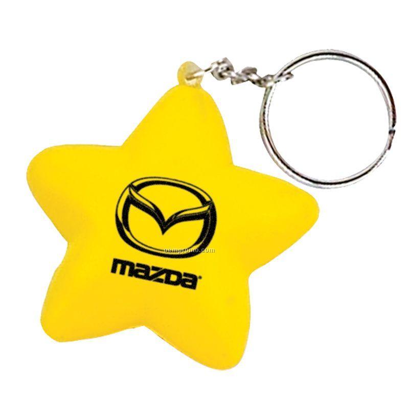 Star Key Chain Stress Toy