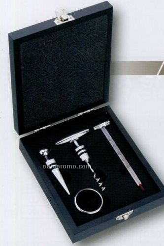 Wine Opener, Ring, Stopper & Thermometer Set