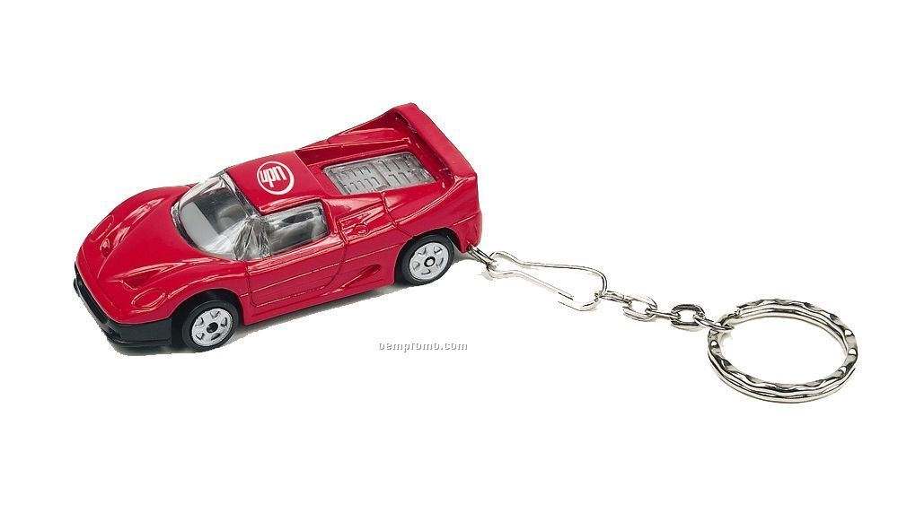 "3""X1-1/4""X1-1/4"" Exotic Car Keychain"