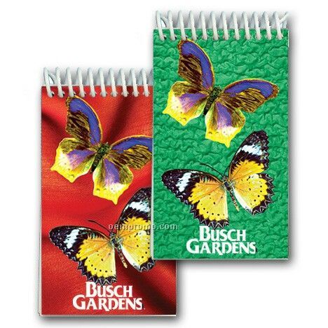 3d Lenticular Mini Notebook Stock/Butterflies (Custom)