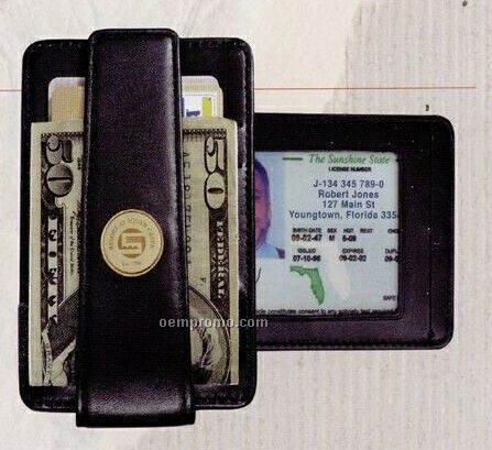 Deep Pocket Money Clip Wallet