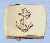 """Deluxe Plated 2"""" Brass Belt Buckle (Anchor)"""