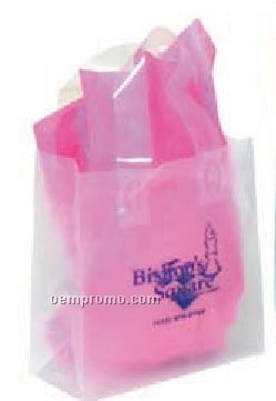 "Frosted Clear Plastic Shopping Bag W/ Flexi Loop Handle (8""X3.5""X10"")"