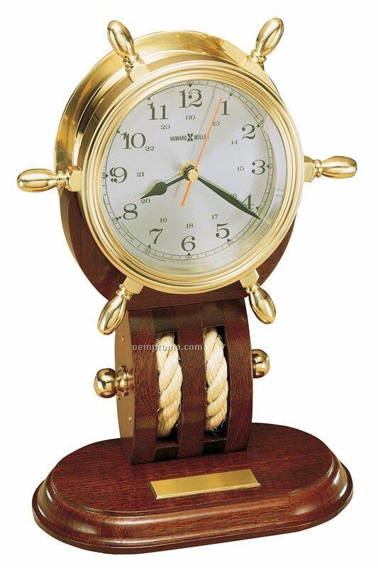 Howard Miller Britannia Ship's Wheel Clock (Blank)