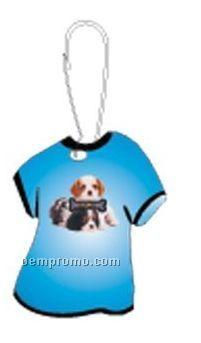 Spaniel Dog T-shirt Zipper Pull