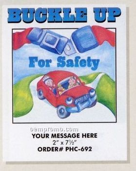 Stock Safety & Prevention Theme - Buckle Up Coloring Book