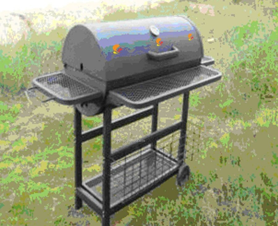 Barbecue Grill - Barrel Style W/ Mesh Racks Front, Sides & Bottom