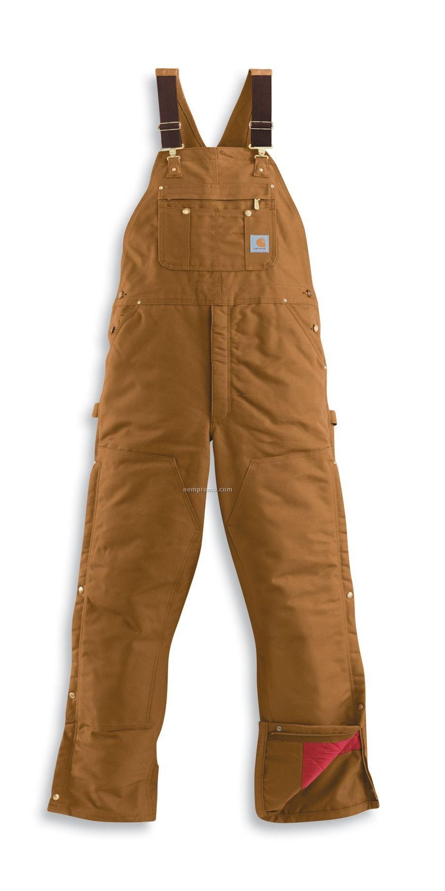 Carhartt Men's Duck Zip-to-thigh Bib Overalls W/ Chap Like Front