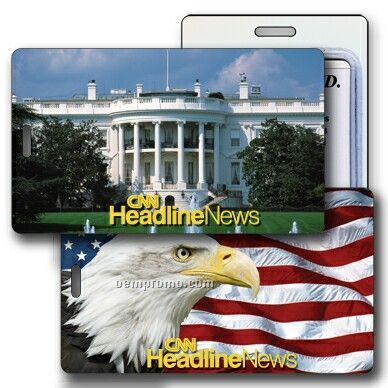 Luggage Tag 3d Lenticular, Us White House, Stock Image (Imprint Product)