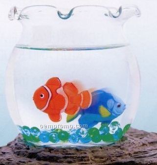 Magic Fish Bowl With Imitation Swimming Fish