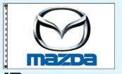 Stock Cluster 3 Flag Set W/ Staff & Hardware (Mazda)