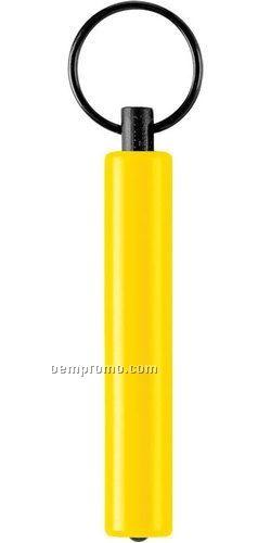 Yellow Flashlight Keychain W/ White LED