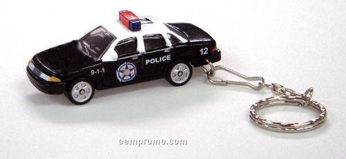 """3""""X1-1/4""""X1-1/4"""" Police Car With Key Chain"""
