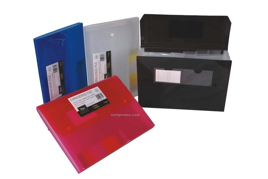 Assorted Pack Translucent Expanding File With 7 Pockets