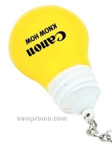 Light Bulb Key Chain Stress Toy