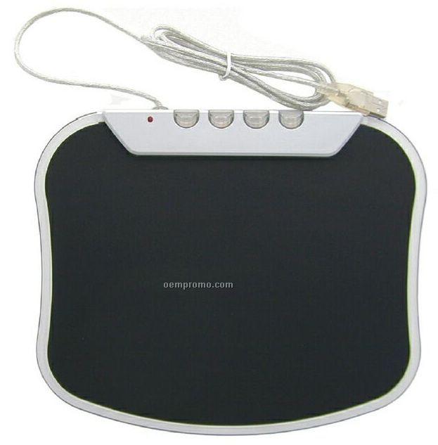 Mouse Pad With USB 4 Port Hub