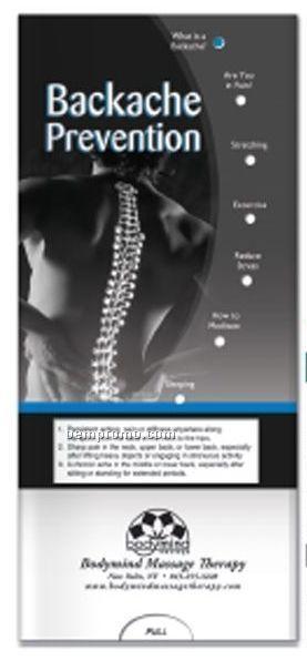 Pocket Slider Chart - Backache Prevention