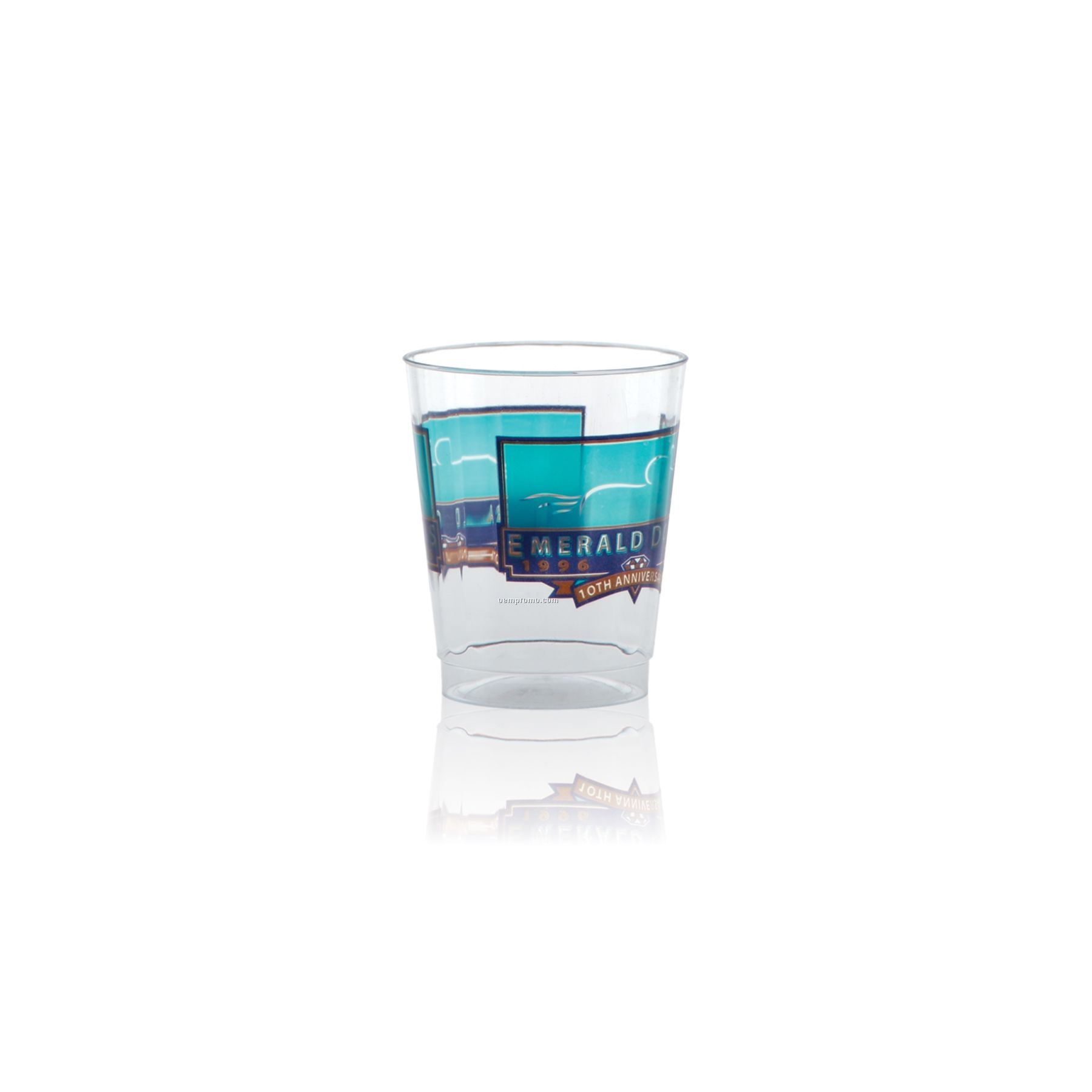 8 Oz. Clear Fluted Plastic Cup