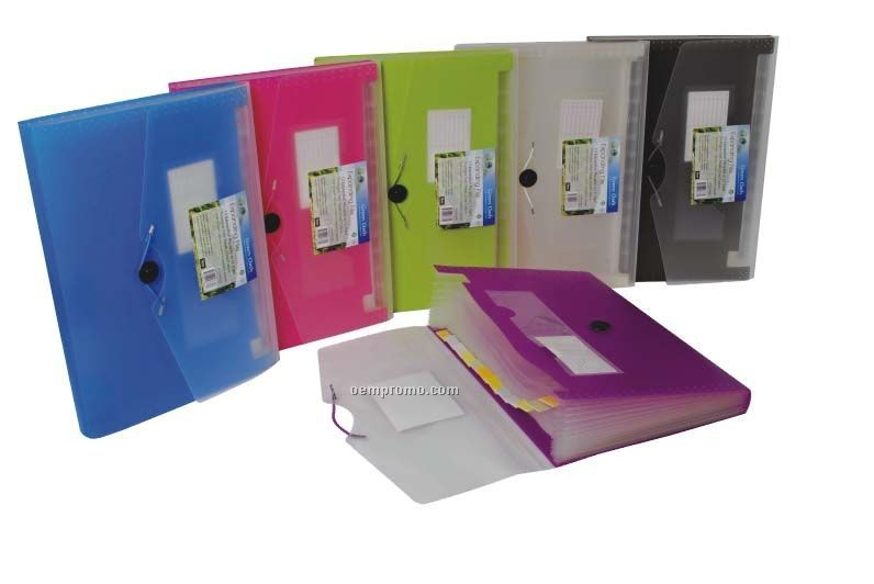 Assorted Pack Expanding File With 13 Pockets