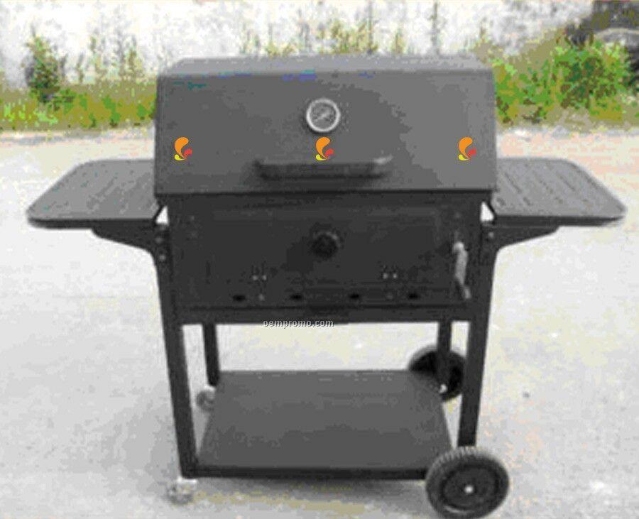 Barbecue Grill - Rectangular W/Side Racks & Bottom Shelf