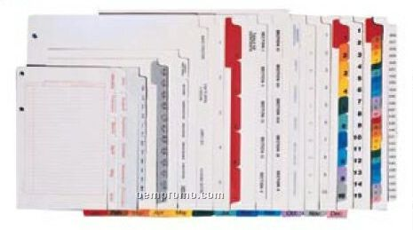 Custom Index Tab Dividers (12 Tab / Set)