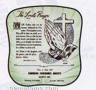 "Palm Leaf ""The Lord's Prayer"" Fan - Protestant"